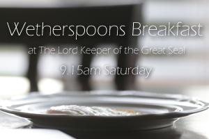 Breakfast at Wetherspoons